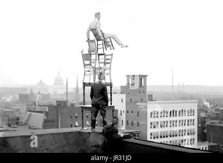 """John """"Jammie"""" Reynolds (geboren 1890 oder 91 -?) war ein US-amerikanischer Draufgänger. Wenig ist bekannt über das - Stockfoto"""