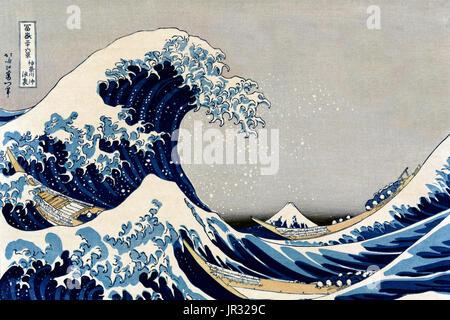 Mount Fuji, die große Welle, 1830 s - Stockfoto