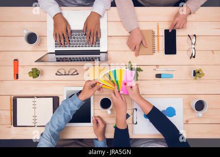 Designer Team Planungstreffen brainstorming-Konzept - Stockfoto