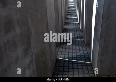 Jüdische Holocaust-Mahnmal in Berlin, Deutschland - Stockfoto