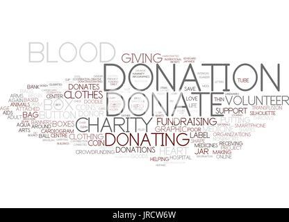Spenden Word Cloud-Konzept - Stockfoto