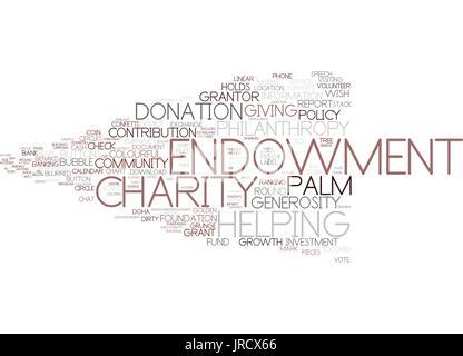 Endowment Word Cloud-Konzept - Stockfoto