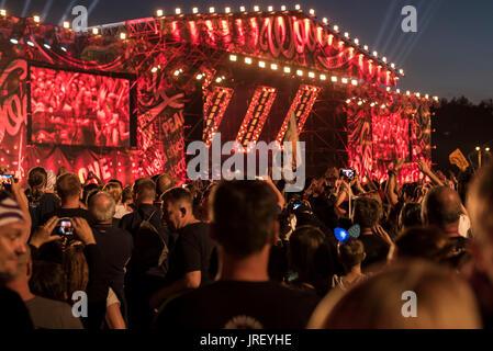 Kostrzyn nad Odra, Polen. 4. August 2017. Konzert der polnischen HEY Band in Stettin im Jahre 1992 gegründet. Bildnachweis: - Stockfoto