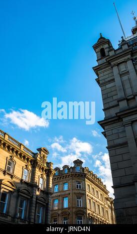 Die wunderschöne Stadt Halifax, West Yorkshire, der Heimat der Piece Hall, Dean Clough Mills und Eureka Lernerfahrung. - Stockfoto