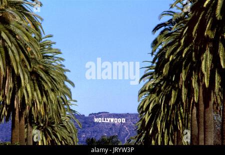 Die ikonischen Zeichen von Hollywood in Los Angeles, CA - Stockfoto