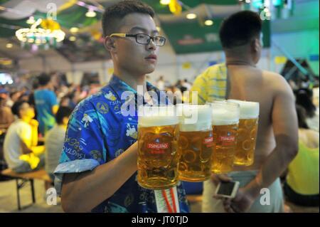Qingdao, Qingdao, China. 5. August 2017. Qingdao, CHINA-August 5 2017: (nur zur redaktionellen Verwendung. CHINA - Stockfoto
