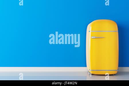 Retro Kühlschrank Blau : Retro blauen kühlschrank kühlschrank isoliert auf weißem hintergrund