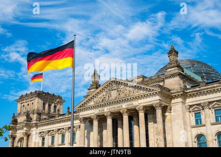 Der deutsche Reichstag in Berlin Deutschland - Stockfoto