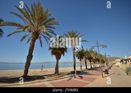 Paseo de Playa Grande, mazarrón, Murcia, Spanien - Stockfoto