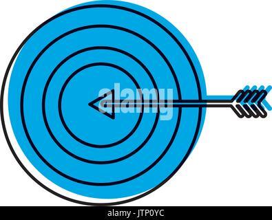 Ziel mit Pfeil-Symbol - Stockfoto