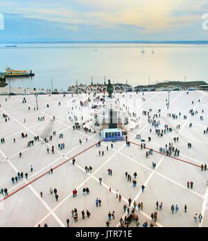 Luftaufnahme des kommerziellen Platz. Lissabon, Portugal - Stockfoto