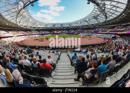 London, Großbritannien. 10. August 2017. IAAF Weltmeisterschaften. Tag 7. Stadionatmosphäre. Quelle: Matthew Chattle/Alamy - Stockfoto