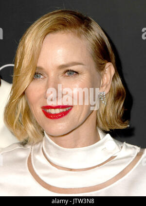 "New York, NY, USA. 09 Aug, 2017. Naomi Watts nimmt ""das Glas Schloss 'New York Screening in der SVA Theater am 9. - Stockfoto"