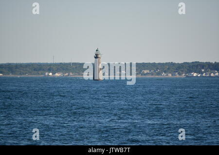 Minot's Ledge Licht aus von Massachusetts South Shore - Stockfoto