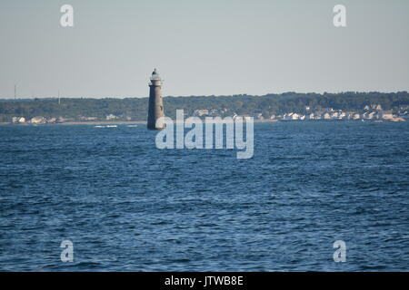 Minot's Ledge Licht aus von Massachusetts South Shore - Stockfoto