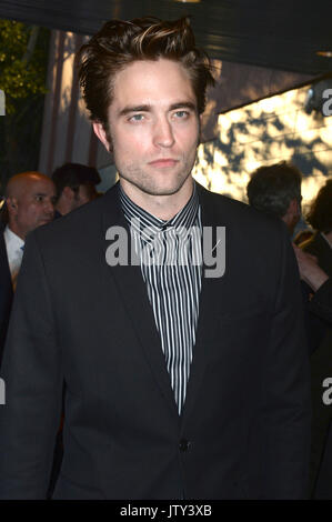 Robert Pattinson besucht die New Yorker Premiere von 'gute Zeit' in der sva Theater am 8. August 2017 in New York - Stockfoto