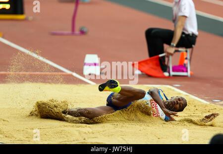 London, Großbritannien. 11 Aug, 2017. London, 11. August 2017. Tianna Bartoletta, USA, in der Frauen springen Finale - Stockfoto