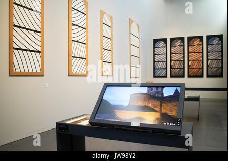 Europa, Frankreich, Royal, Aveyron, Rodez Stadt, Pierre-Soulages Museum, Malerei des Outrenoirs Serie der französische Maler Pierre Soulages am Soulages Museum