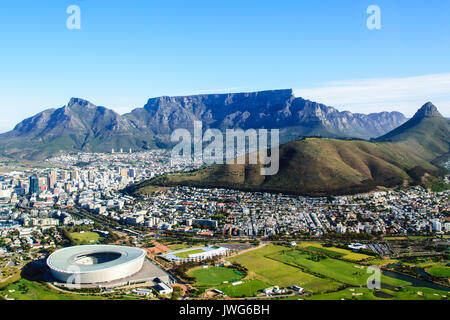 Tafelberg aus der Luft - Stockfoto
