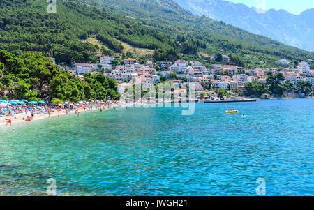 Küste von Makarska, Kroatien. - Stockfoto