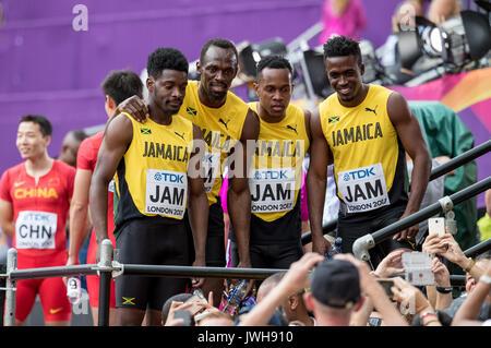 London, Großbritannien. 12 Aug, 2017. Die, Jamaika. ,. An Tag 9 bei den Olympischen Park, London, England am 12. - Stockfoto