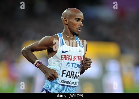 London, Großbritannien. 12 Aug, 2017. Mohamed FARAH (GBR) in den mens 5000 m-Finale. IAAF Leichtathletik WM. London - Stockfoto