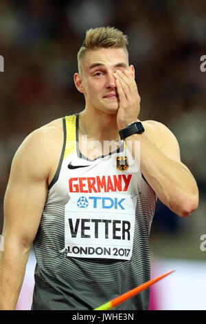 London, Großbritannien. 12 August, 2017. IAAF Weltmeisterschaften, Queen Elizabeth Olympic Park, Stratford, London, - Stockfoto