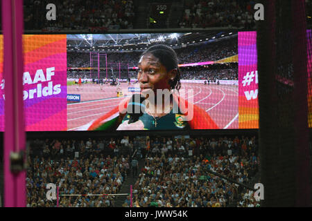Queen Elizabeth Park, London, UK. 12 Aug, 2017. IAAF Weltmeisterschaften. Tag 10. Frauen 800 m Finale. Caster Semenya - Stockfoto
