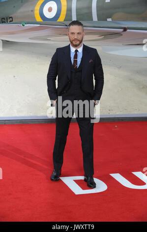 """Weltpremiere von """"unkirk"""" im Odeon Leicester Square - Ankunft Mit: Tom Hardy Wo: London, Großbritannien Wann: 13 - Stockfoto"""