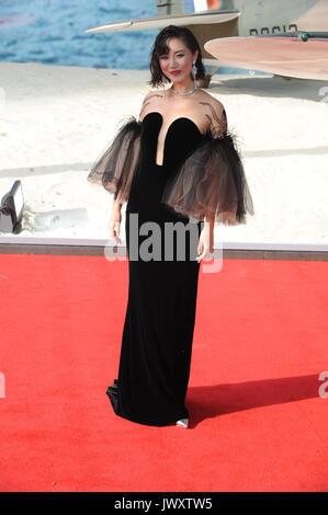 """Weltpremiere von """"unkirk"""" im Odeon Leicester Square - Ankunft mit: Betty Bachz Wo: London, Großbritannien Wann: - Stockfoto"""