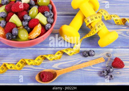 Massband Hanteln Fur Den Einsatz In Fitness Und Salat Von Frischen