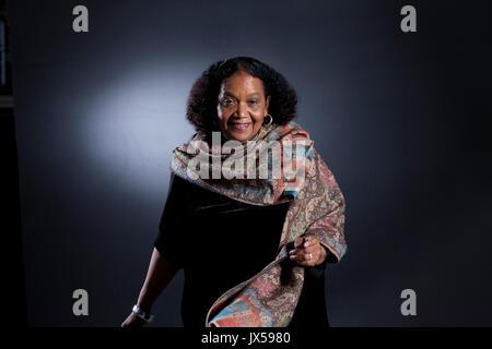 Edinburgh, Großbritannien. 14. August 2017. Lorna Goodison, die jamaikanischen Dichter, beim Edinburgh International - Stockfoto