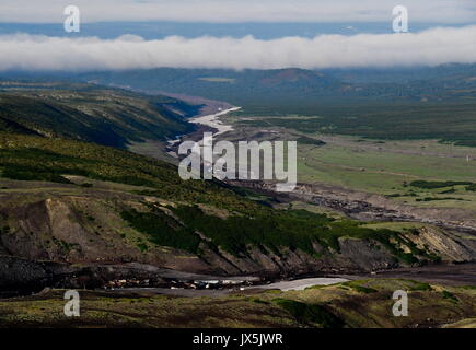 Kamtschatka, Russland. 12 Aug, 2017. Am Fuße des Avachinsky aktiver stratovulkan. Credit: Yuri Smityuk/TASS/Alamy - Stockfoto