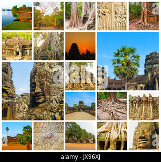 die collage aus bildern von angkor wat in kambodscha stockfoto bild 169231435 alamy. Black Bedroom Furniture Sets. Home Design Ideas
