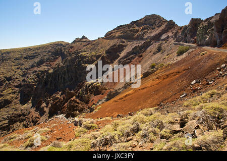 Blick vom Roque de Los Muchachos auf La Palma (Kanarische Inseln, Spanien) - Stockfoto