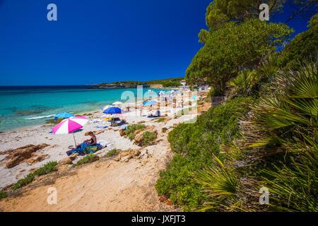 Spiaggia delle Bombarde Beach in der Nähe von Alghero, Sardinien, Italien. - Stockfoto