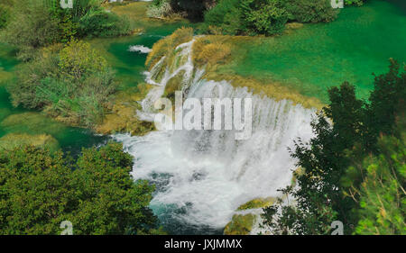 Nationalpark Krka Wasserfall in Kroatien - Stockfoto