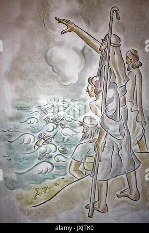 Modernes Wandbild von Moses Abschied das Rote Meer - Stockfoto