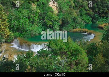 Nationalpark Krka Wasserfall in Kroatien - Stockfoto
