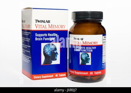Pillen für die Verbesserung des Gedächtnisses und kognitive Funktion. - Stockfoto