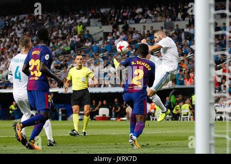 Madrid, Spanien. 16 Aug, 2017. Karim Benzema (9) Spieler von Real Madrid. Spanisch SUPER CUP zwischen FC Barcelona - Stockfoto