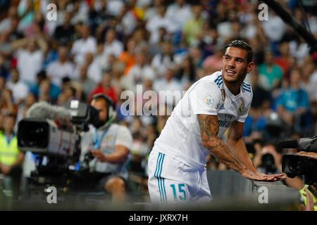 Madrid, Spanien. 16 Aug, 2017. Theo Hernandez (15) von Real Madrid Spieler. Spanisch SUPER CUP zwischen FC Barcelona - Stockfoto