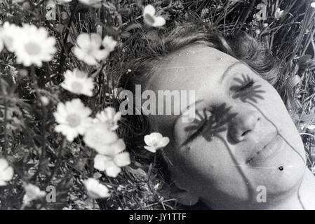 Blume Kind. - Stockfoto