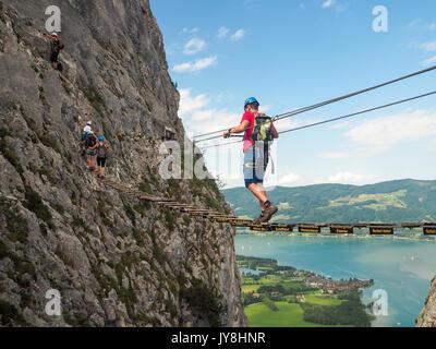 Klettersteig Attersee : Klettersteig attersee tour
