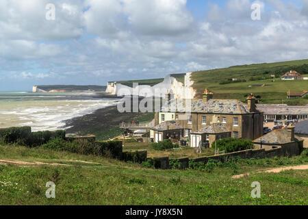 Birling Gap, sieben Schwestern, South Downs, East Sussex, England, Großbritannien - Stockfoto