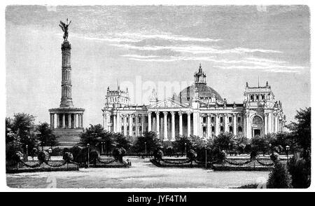 Im Berliner Reichstag und Siegessäule - Stockfoto
