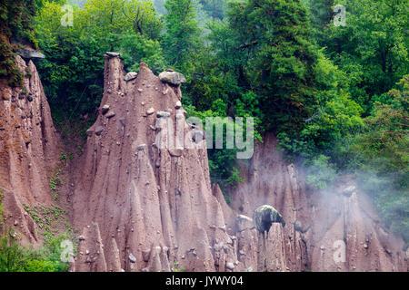 Erdpyramiden am Ritten, Südtirol - Stockfoto