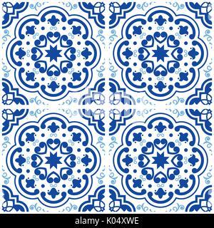 Indigo Blue Muster Lissabon Farbe Fliesen Boden Oriental Spanien - Portugiesische fliesen bilder