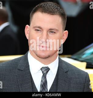 London, Großbritannien. 21 Aug, 2017. Channing Tatum, Logan Lucky-UK Film Premiere, Leicester Square, London, Großbritannien, - Stockfoto