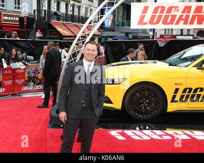 London, Großbritannien. 21 Aug, 2017. Channing Tatum, Logan Lucky-UK Film Premiere, Leicester Square, London, Großbritannien, - Stockfoto